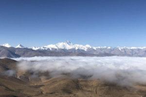 Tibet mountain range in Summer