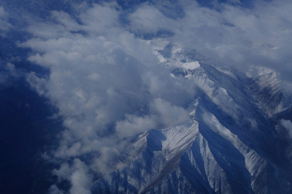 Tibetan Mountain range birdsview