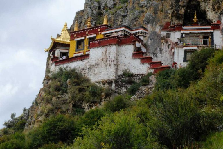 Dark Yepa monastery in Tibet