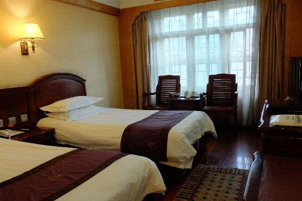 Western-style hotel rooms in Tibet