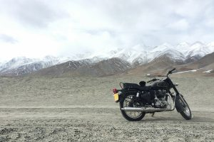Motorbike in the mountains