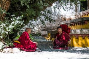 Monks in Tibet are important