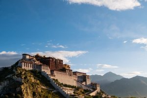 Gorgeous sunrise view on Potala Palace in Tibet