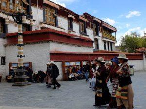 Sera Monastery with Tibetan ladies
