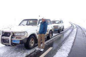 Tibetan highways in winter