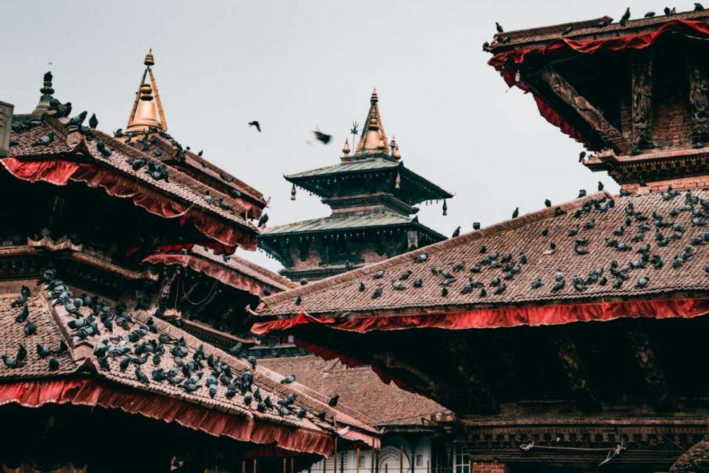 Temple Roofs in Kathmandu