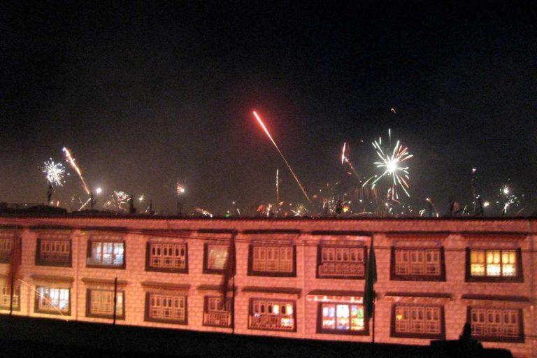 Tibetan New Year Fire Works