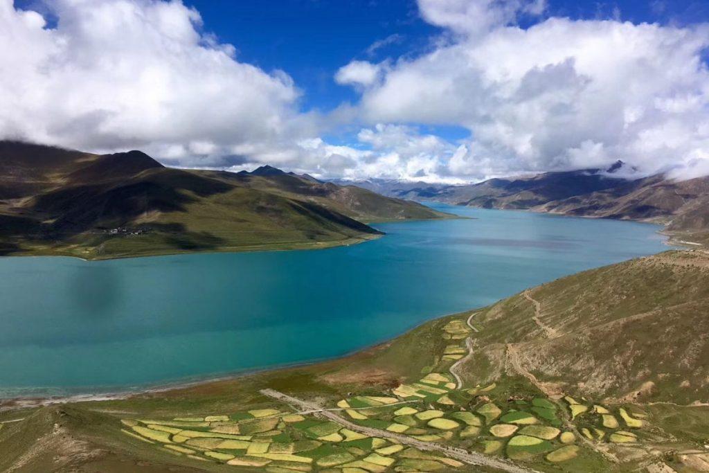 A long Yamdrok Lake in TIbet