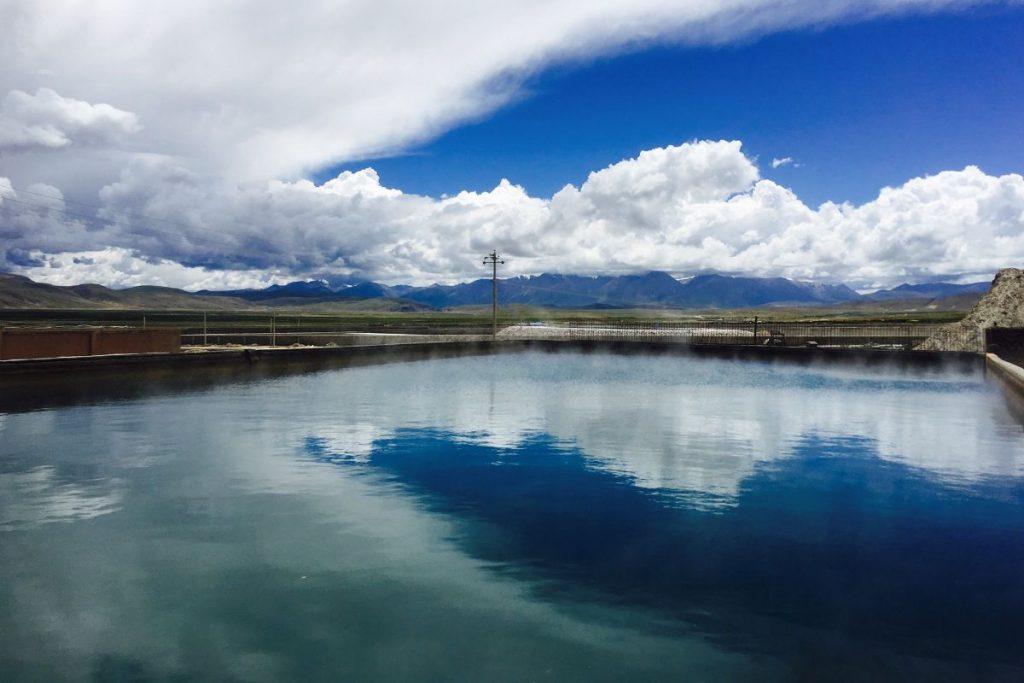 Massive Yangpachen Hot Spring in Tibet